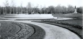The Eli Bates Fountain has been the centerpiece of Lincoln Park's formal garden since 1887.,