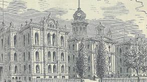 A book entitled Seven Days in Chicago shows the Old City Hall before it was damaged by Great Fire of
