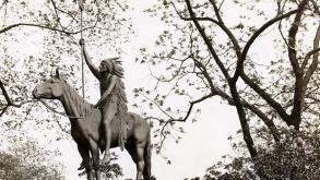 A Signal of Peace is one of Lincoln Park's oldest monuments. This is a view of the sculpture.