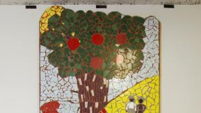 Located in a stairwell of the field house, the mosaic depicts images of the park,  2012