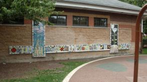 To produce the artwork, children created individual tiles and made sketches