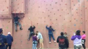 Teens enjoying a great time rock climbing