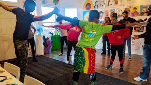 AfroSoul Yoga Drum Circle at Park No. 571