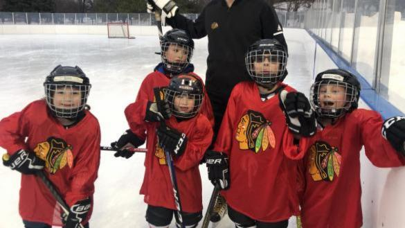 Chicago Blackhawks Hockey Clinic at Wentworth