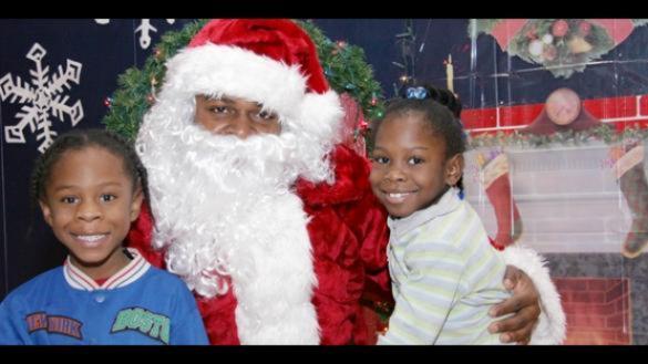 A visit with Santa.