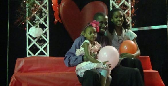 Take a photo with dad, dance the night away, much fun to be had at a park Valentine's Day event.