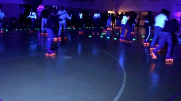 Neon Glow Roller Skating for teens