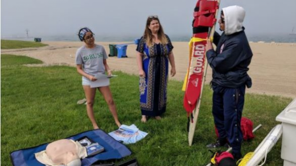 Community Water Safety Training at Foster Beach