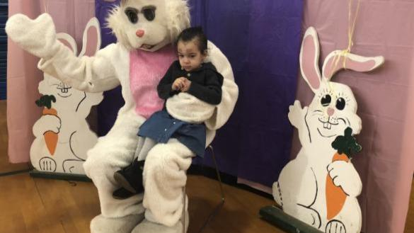 Bunny with kids