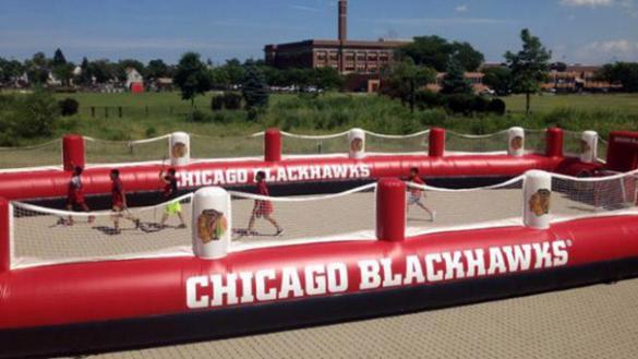 Chicago Blackhawk's Roller Hockey Rink at Wicker