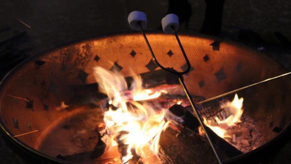 Campfire and roasting marshmallows.