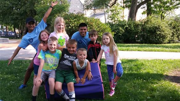 Kids enjoying Rollin Recreation activities.
