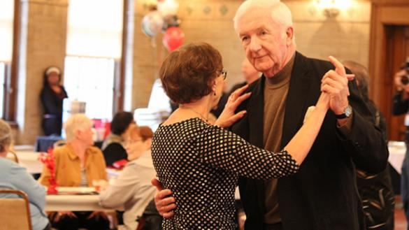 Seniors are enjoying the annual luncheon and dancing at Peterson Park