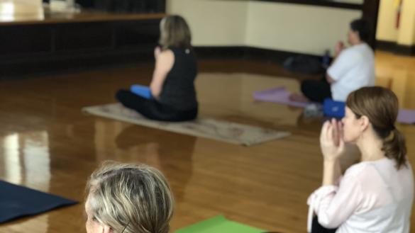 Enjoying yoga!