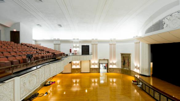 The auditorium at La Follette Park