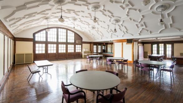 A historic clubroom at Pulaski Park