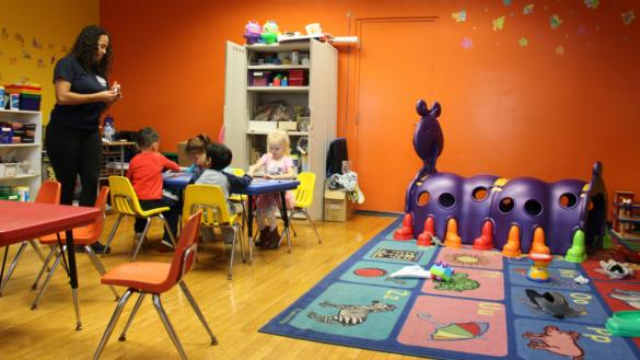 Children's clubroom and play space at Harrison Park