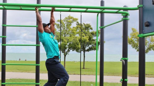 Fitness course at Burnham Park