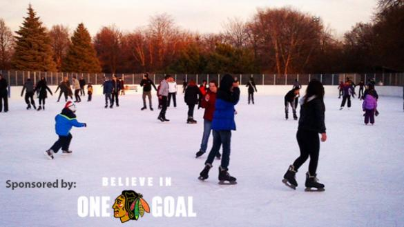 Outdoor Ice Rinks are Proudly Sponsored by the Chicago Blackhawks.