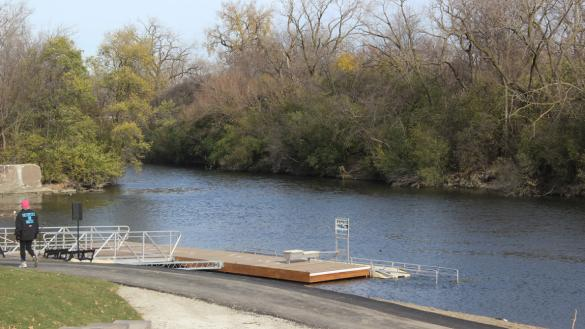 Boat launch at River Park