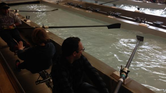Rowing tank at WMS Boathouse at Clark Park