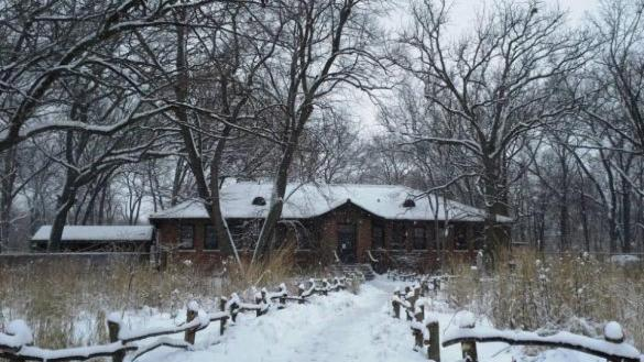 North Park Village Nature Center in the winter