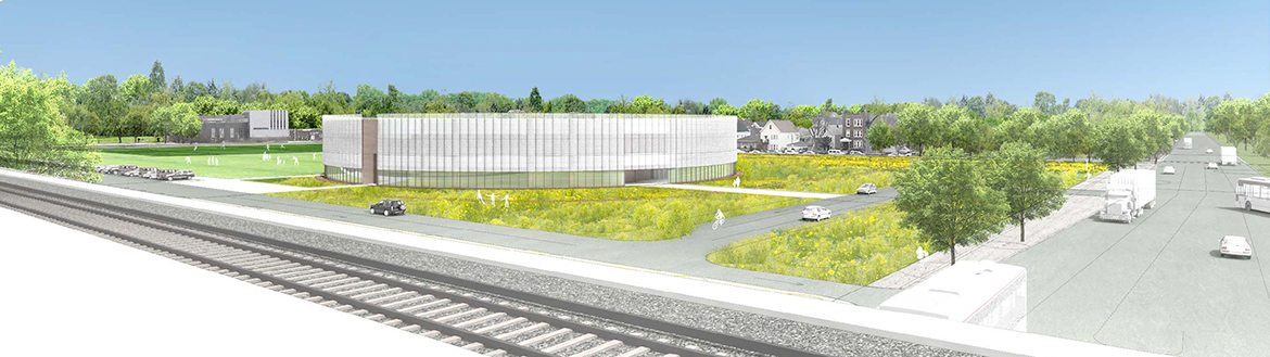 Park 596 and Chicago Park District Administration Building Rendering