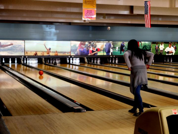 Girl bowling at MLK Entertainment Center