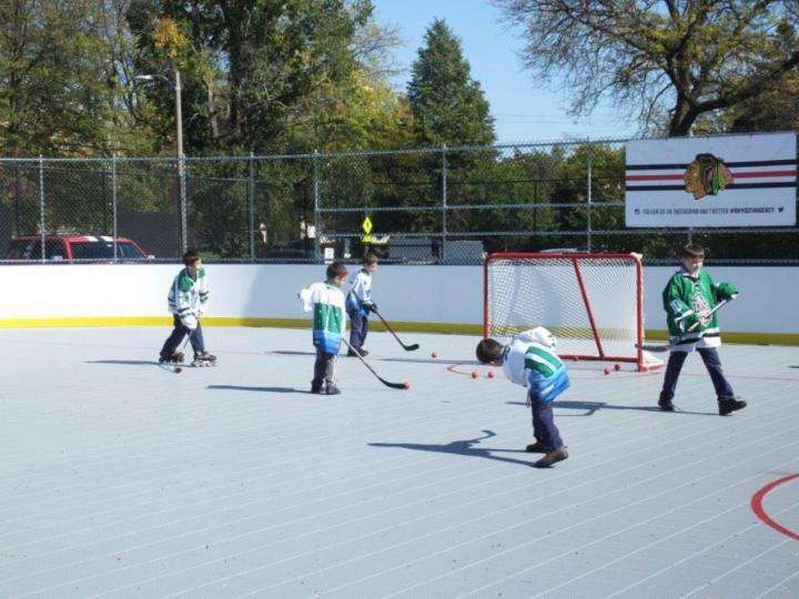 Blackhawks roller hockey rink at Kennedy Park