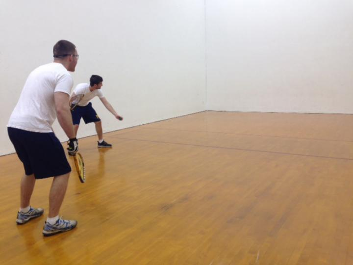 Men playing Racquetball at Warren Park