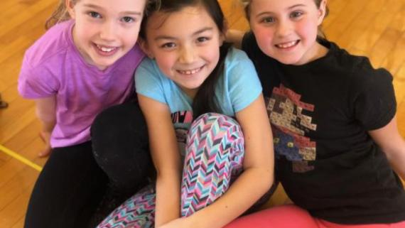 Besties at Girls Day of Play at Revere