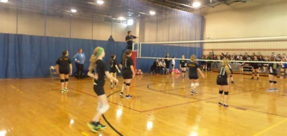 Team excitement at Hale Park MLK Volleyball Tournament