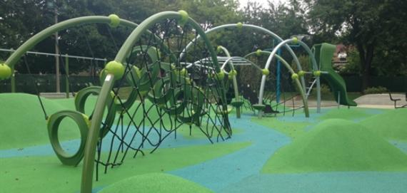 new playground at Merrimac Park