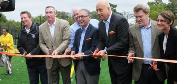 Ribbon cutting ceremony for the Cal Ripken Jr. Freedom Field