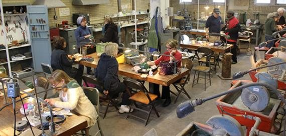 The jewelry & lapidary workshop at Green Briar Park
