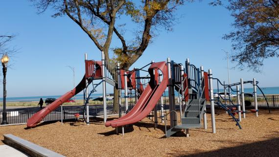 The playground at Lake Shore Park
