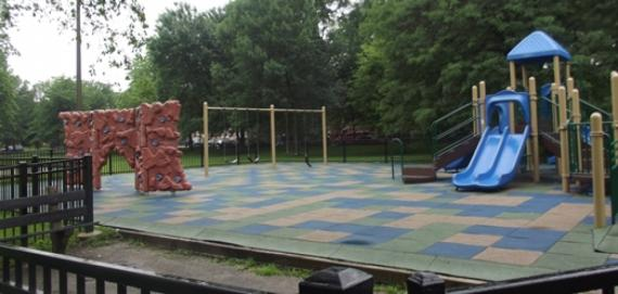 The beautiful playground at Grand Crossing Park