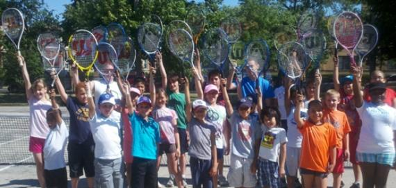 Tennis Camp at Chopin Park.