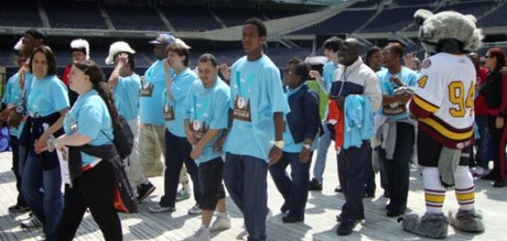 Loyola Park Athletes at Special Olympics Opening Ceremony at Soldier Field