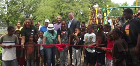 The gorgeous Euclid Park ribbon cutting