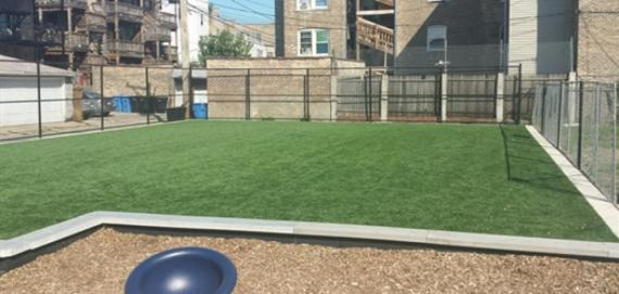 Play area at Langdon Playlot Park