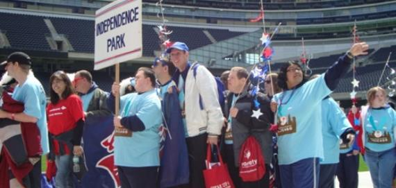 Independence Park Athletes at Special Olympics Opening Ceremony at Soldier Field