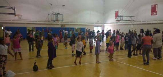 A gym full of kids at Clarendon Park