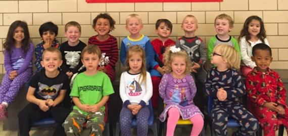 Kiddie College loved pajama day!