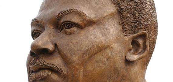 Portrait bust of Dr. Martin Luther King, Jr. by Tina Allen