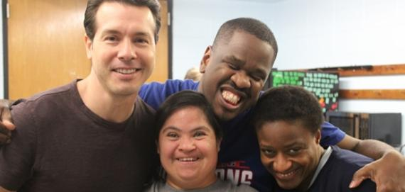 Jon Seda surprised our Special Rec program!!