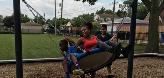 Family time at Wallace Playground