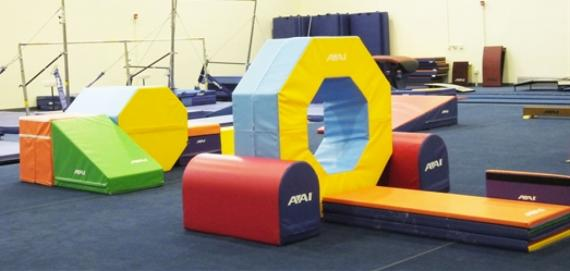 A colorful and cheerful gymnastics center
