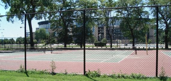 Tennis courts at Armour Square