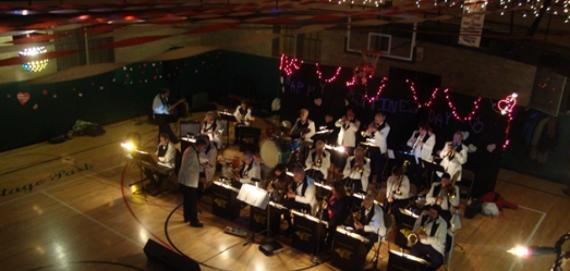 Horner Park Jazz Band performing at Valentine's Day Dance